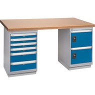 """FH913 Workbenches (shop grade wood tops) 36""""Wx60""""Lx34""""H"""
