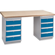 """FH918 Workbenches (shop grade wood tops) 24""""Wx60""""Lx34""""H"""