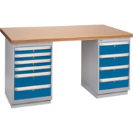 """FH909 Workbenches (shop grade wood tops) 36""""Wx60""""Lx34""""H"""