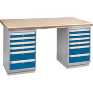 """FH922 Workbenches (shop grade wood tops) 24""""Wx60""""Lx34""""H"""