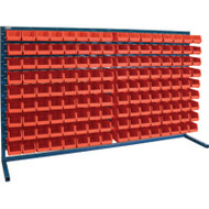 "CB173 LOUVERED Bench Racks/RED bins 4 1/8""W x 7 3/8""D x 3""H"