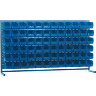 "CB175 LOUVERED Bench Racks/BLUE bins 5 1/2""W x 10 7/8""D x 5""H"