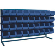 "CB184 LOUVERED Bench Racks/BLUE bins 8 1/4""W x 14 3/8""D x 7""H"
