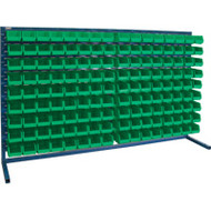 "CF365 LOUVERED Bench Racks/GREEN bins 4 1/8""W x 7 3/8""D x 3""H"