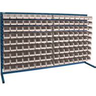 "CF366 LOUVERED Bench Racks/STONE bins 4 1/8""W x 7 3/8""D x 3""H"