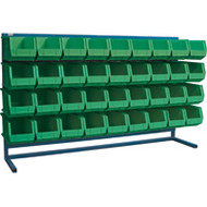 "CF369 LOUVERED Bench Racks/GREEN bins 8 1/4""W x 14 3/8""D x 7""H"