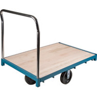 "MB298 Wood Platform Diamond casters 24""Wx48""L"
