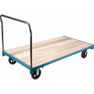 "MB326 Wood Platform Diamond casters 48""Wx96""L"