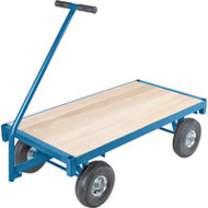 "MD186 Ergonomic Wagons (wood deck) 24""Wx48""L"