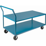 Utility Shelf Carts Low Profile Long HD (Nylon Casters)