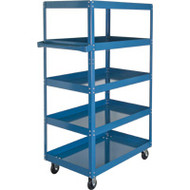 "MN158 Shelf Carts 5 shelves 18""Wx30""Dx61""H"