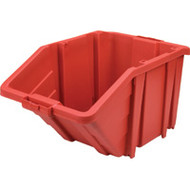 "CF327 Jumbo Stackable Bins (RED) 15.5""Wx25""Dx13""H"