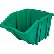"CF329 Jumbo Stackable Bins (GREEN) 15.5""Wx25""Dx13""H"