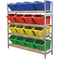 "RL989 Shelving (4 shelves/4 colors)  66""Wx18""Dx72"