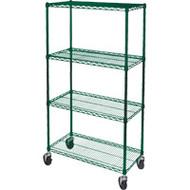 "RL803 Epoxy Shelf Carts (4-shelf) 36""Wx18""Dx74""H"