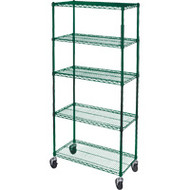 "RL813 Epoxy Shelf Carts (5-shelf) 48""Wx24""Dx86""H"