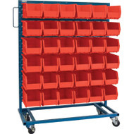"CB651 Racks RED Bins 36""Wx16""Dx52""H"