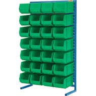 "CB685 Racks GREEN Bins 36""Wx12""Dx61""H"
