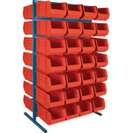 "CB371 Racks Red Bins 36""Wx24""Dx61""H"