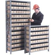 "CF050 Shelving (w/48 RED plastic bins) 36""Wx12""Dx40""H"