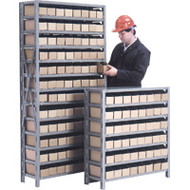 "CF055 Shelving (w/96 YELLOW plastic bins) 36""Wx12""Dx76""H"