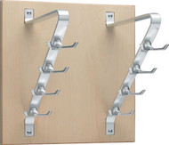Wooden Wall-Mounted Vertical Coat Hook Rack 263-207