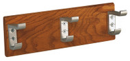 Wooden Wall-Mounted Coat Hook Panel with Unbreakable Hooks 150-810 - Multiple Sizes and Finish Options