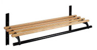 Infinite Wall-Mounted Wooden Adjustable Coat Rack with Hanger Bar and Shelf 150-118 - Unlimited Sizes