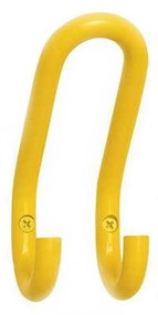 Aluminum Triple Prong Coat Hook 152-212 - Yellow - CLEARANCE