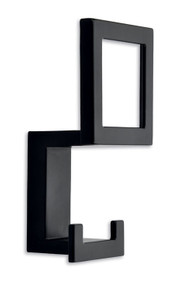 Triple Prong Hat and Coat Hook 243-412 - Black Matte Finish