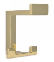 Zinc Alloy Triple Prong Hat and Coat Hook 232-405 - Bright Brass Finish