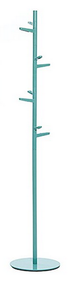 Steel and Aluminum Painted Coat Tree with 8 Hooks 231-309 - Turquoise