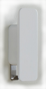 Painted Wood and Metal Coat Hook (Set of 2) 600-304 - White