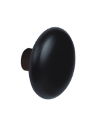 Round Wood Painted Hanger Knob 25 mm Long 460-052- Black Pantone