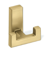 Metal Double Prong Coat Hook 459-394 - Matte Gold