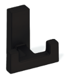 Metal Double Prong Coat Hook 459-392 - Matte Black