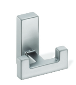 Metal Double Prong Coat Hook 459-391 - Polished Chrome