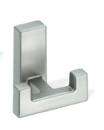 Metal Double Prong Coat Hook 459-393 - Satin Nickel