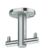 Under Mount Swiveling  Double Prong Stainless Steel Hook - 453-436