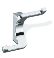 Zinc Alloy Double Prong S-Shape Coat Hook 459-395 - Polished Chrome