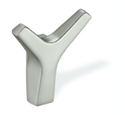 Zinc Alloy Double Prong Y-Shape Coat Hook 459-399 - Satin Nickel