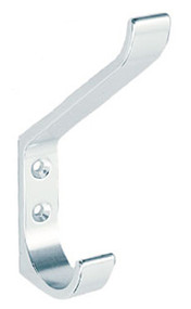 Aluminum Double Prong Hat and Coat Hook 263-123