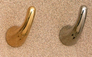 Brass Single Prong Coat Hook 196-272 - Multiple Finish Options