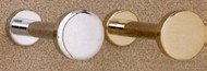 Brass Coat Knob 196-234 - Polished Chrome Finish
