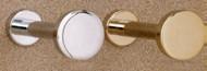 Brass Coat Knob 196-234 - Polished Chrome Finish