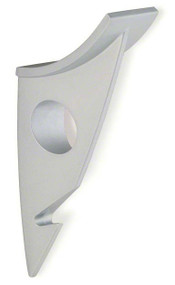 Zinc Double Prong Hat and Hanger Coat Hook 242-481 - Matte Aluminum Finish