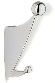 Zinc Double Prong Hat and Hanger Coat Hook 242-283 - Bright Chrome Finish