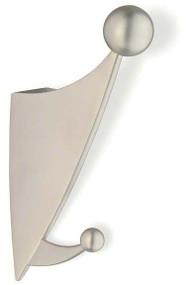 Zinc Double Prong Hat and Hanger Coat Hook 242-284 - Matte Nickel Finish