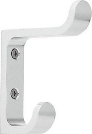 Aluminum Double Prong Coat Hook 263-112