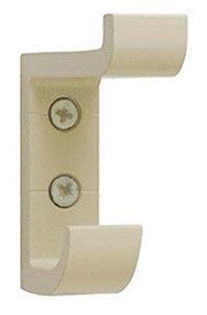 Heavy Duty Aluminum Double Prong Coat Hook 154-101 - Almond - CLEARANCE